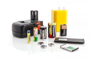 Fotografie běžných baterií